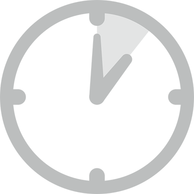 Clock with 1 hour highlighted